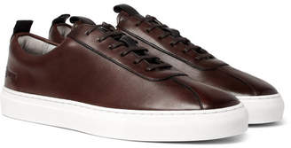 Grenson Burnished-Leather Sneakers