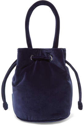 Loeffler Randall Jesmyn Velvet Bucket Bag - Midnight blue
