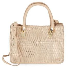 Cole Haan  Benson Woven Leather Mini Tote