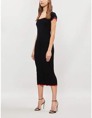 Pinko Dolcetto braided-trim rib-knit dress