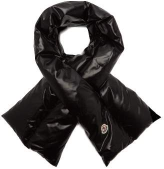 Moncler Padded Shell Scarf - Womens - Black
