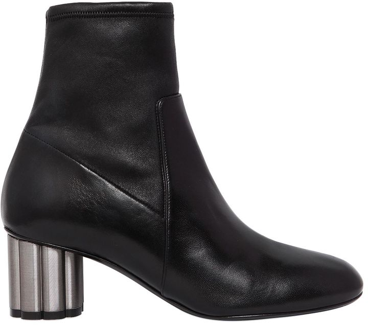 55mm Catania Stretch Leather Ankle Boots