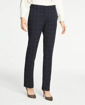 Ann Taylor The Straight Leg Pant In Windowpane - Curvy Fit