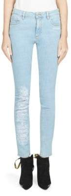Off-White Five-Pocket Bleached Skinny Jeans