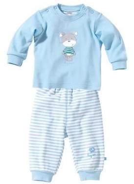 BORNINO Schlafanzug lang Baby-Pyjama Baby-Nachtwäsche NEU hellblau