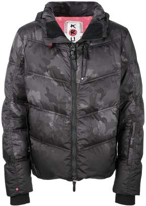 Kru camouflage puffer jacket