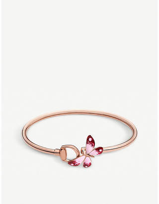 9c74ff135 Gucci Flora 18ct rose gold butterfly bracelet