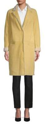 Yves Salomon Merinos Lamb Shearling Reversible Coat
