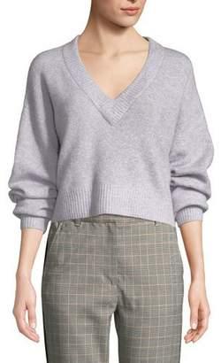 3.1 Phillip Lim Lofty Alpaca-Blend V-Neck Pullover Sweater