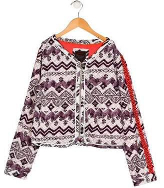 Catimini Girls' Printed Quilted Jacket