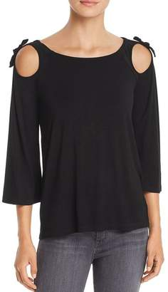 Design History Cutout Tie-Shoulder Top