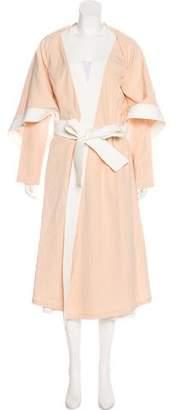 Versace Belted Long Coat