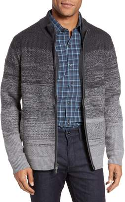 Zachary Prell Hawkins Degrade Merino Full Zip Cardigan