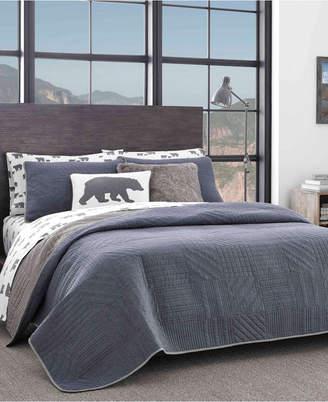 Eddie Bauer Hidden Lake Chambray Blue Twin Quilt Set Bedding