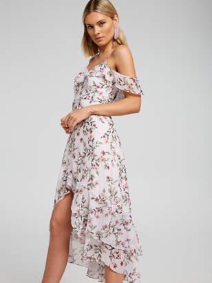 Portmans Australia Lavish Lilac Cold Shoulder Dress