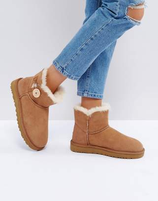 UGG Mini Bailey Button Ii Chestnut Boots