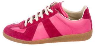 Maison Margiela Leather Round-Toe Sneakers