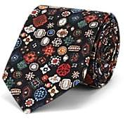 Alexander McQueen Men's Jewel Silk Faille Necktie - Black