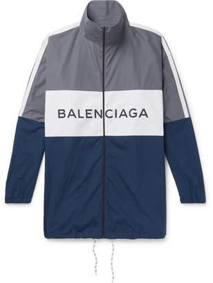 Balenciaga Colour-Block Cotton-Shell Jacket