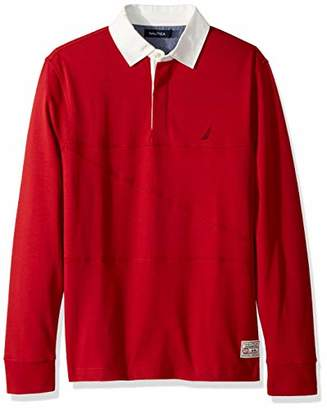 ccb5dbe4 Nautica Men's Long Sleeve Solid Polo Shirt