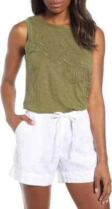 Caslon Embroidered Tank