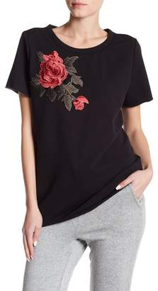 Romeo & Juliet Couture Embroidered Short Sleeve Sweatshirt