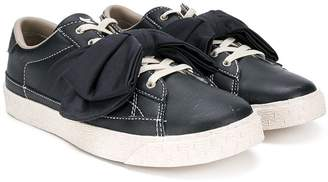 Douuod Kids bow lace-up sneakers