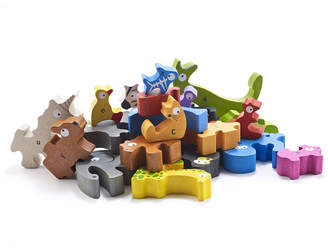 Begin Again Toys Animal Parade A-z Jumbo Wooden Puzzle
