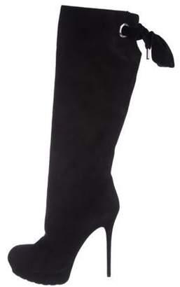 Alexander McQueen Platform Knee-High Boots Black Platform Knee-High Boots
