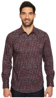 Perry Ellis Long Sleeve Levels Button Down Shirt Men's Long Sleeve Button Up