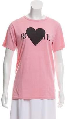 Rodarte Printed Short Sleeve Top