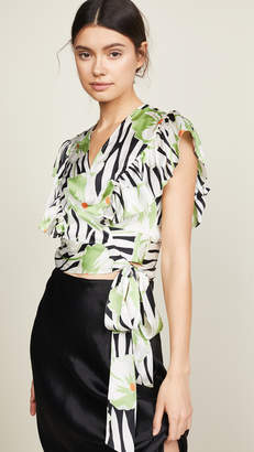 Jill Stuart Tropical Wrap Top