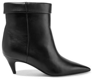 Saint Laurent Charlotte Leather Ankle Boots - Black