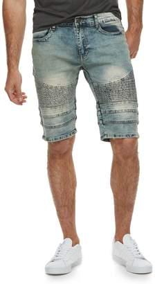 X-Ray Xray Men's XRAY Slim-Fit Washed Moto Stretch Denim Shorts