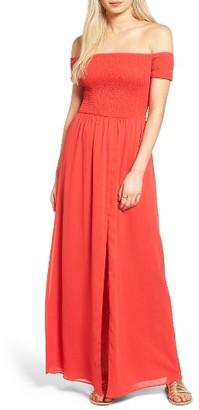 Women's Tularosa Henderson Off The Shoulder Maxi Dress $218 thestylecure.com