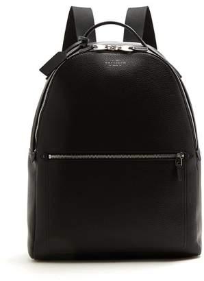 Smythson Burlington Leather Backpack - Mens - Black