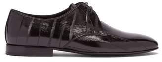 Saint Laurent Smoking Eel Skin Shoes - Womens - Black