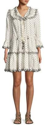 Zimmermann Jaya Dot-Print Scalloped Dress