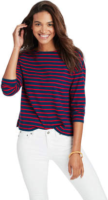 Vineyard Vines Long-Sleeve Stripe Boatneck Top