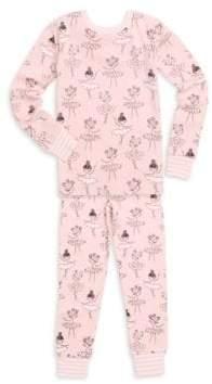 Petit Lem Little Girl's Two-Piece Printed Cotton Pajama Set
