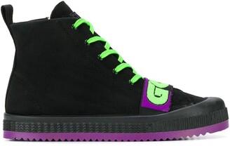 GCDS logo strap high-top sneakers