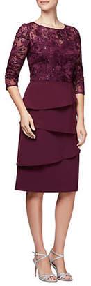 Alex Evenings Embroidered Dress