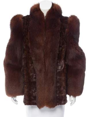 Fur Mink Fox Short Coat