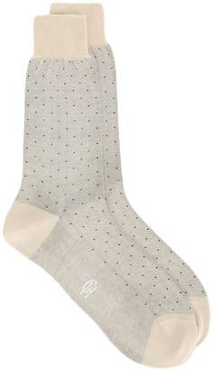 Gieves & Hawkes polka dot socks