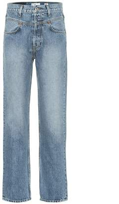 RE/DONE Double Yoke high-rise straight jeans