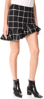 Marques Almeida Grid Suiting Ruffle Miniskirt $340 thestylecure.com
