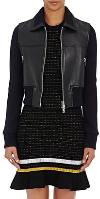 3.1 Phillip Lim Women's Leather & Rib-Knit Jacket