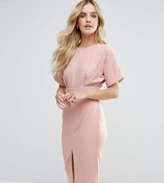 Asos Smart Woven midi dress with V Back and Split Front
