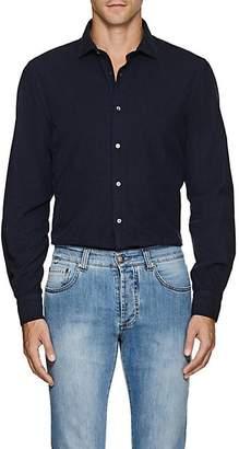 Boglioli Men's Cotton Corduroy Dress Shirt - Navy
