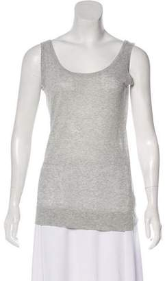 Michael Kors Linen-Blend Sleeveless Top